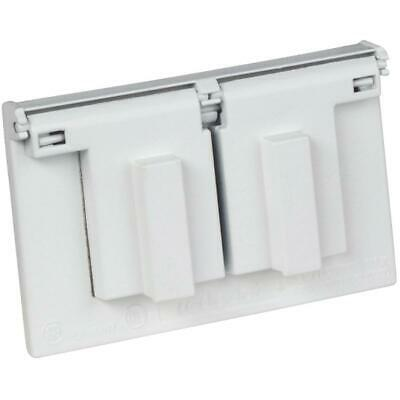 1 Gang Weatherproof White Receptacle Cover