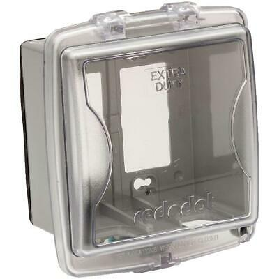 2 Gang Medium While-In-Use Extra Duty Weatherproof Clear Receptacle Cover