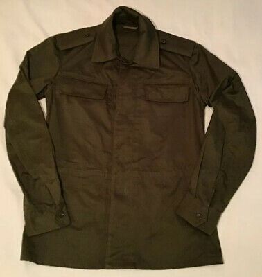 Men's VTG FOREIGN MILITARY Olive Green OD Green Button Down Lightweight Jacket M