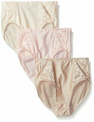 Bali Women's Double Support Hi-Cut 3-Pack 7 Soft Taupe/Light Beige/Blush Pink