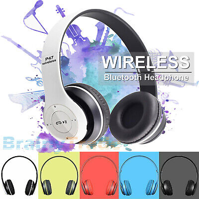 Wireless Headphones Bluetooth Headset Noise Cancelling Over Ear & Microphone