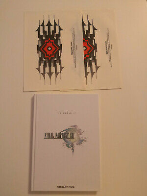 World of Final Fantasy XIII art book with 3 A5 prints and 2 stickers
