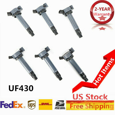 6 UF430 Ignition Coil Set Fit 04-06 Toyota Sienna Camry V6 3.3L Lexus ES330