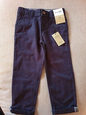 Brand New Primark Boys Navy Cargo Trousers Age 3-4 Years
