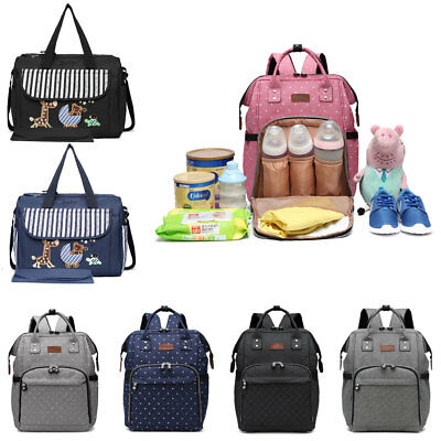Baby Diaper Nappy Changing bag Backpack Multi-Function Mummy Bag