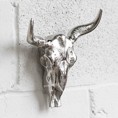 Wall Mounted Highland Cow Skull Decoration Bull Head Animal Scuplture Bust Art