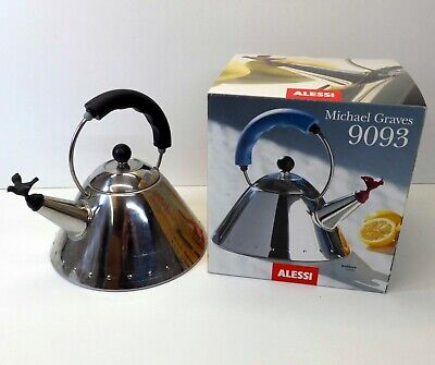 Alessi Michael Graves 9093 Kettle - Whistling Bird Spout - Chrome Bollitore