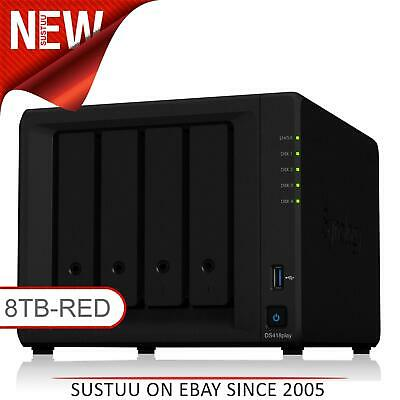 NEW! Synology DiskStation DS418PLAY 8TB (4 x 2TB WD RED) 4 Bay NAS Unit | Black