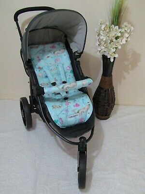 Stroller,pram liner set,universal,100% cotton fabric-Sea world-Funky Babyz