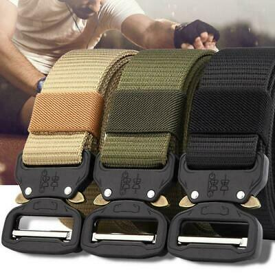 New Military Tactical Belt Mens Army Combat Waistband Rescue Rigger Belts 125CM