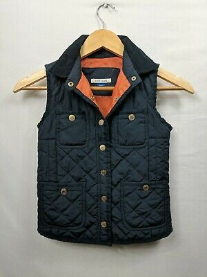 River Island Unisex Girls Boys Blue Quilted Bodywarmer Gilet Age 6 Years #WD9
