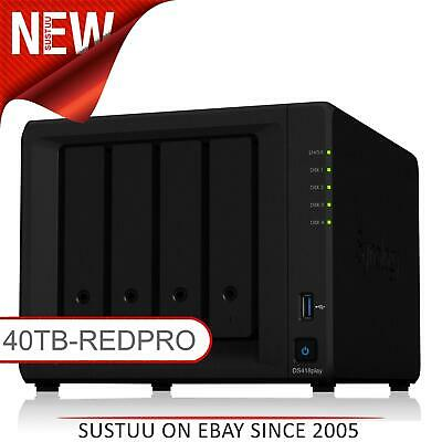 NEW! Synology DiskStation DS418PLAY 40TB (4 x 10TB WD RED PRO) 4 Bay NAS Unit