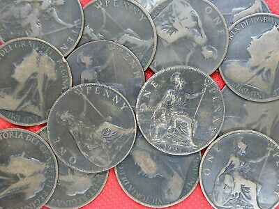 QUEEN VICTORIA - ONE PENNY COINS Veiled Head - 1895 to 1901 - PICK YOUR COINS !