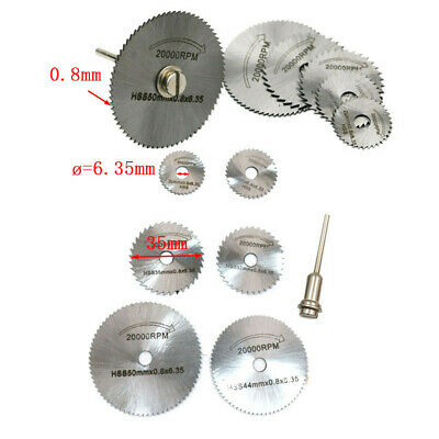 6Pcs HSS Saw Disc Wheel Cutting Blades For Drills Rotary Tools + Mandrel