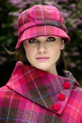 Ladies Irish Pink Flapper Hat Cap Mucros Weavers 223A - Made in Ireland