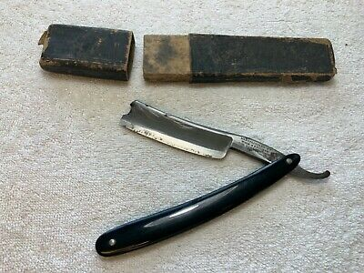 Antique Wade And Butcher For Barber Use Straight Razor 1800's with original box