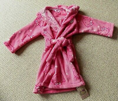 Girls Marks & Spencer Hello Kitty Dressing Gown-3-4 Years-New