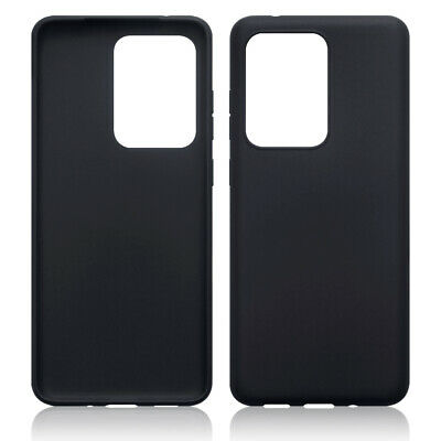 TPU Gel Case / Cover for Samsung Galaxy S20 Ultra - Solid Black Matte Finish