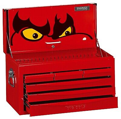 Teng Tools TC806SV 6 Drawer SV Series Metal Top Chest Tool Box + FREE HEAD TORCH