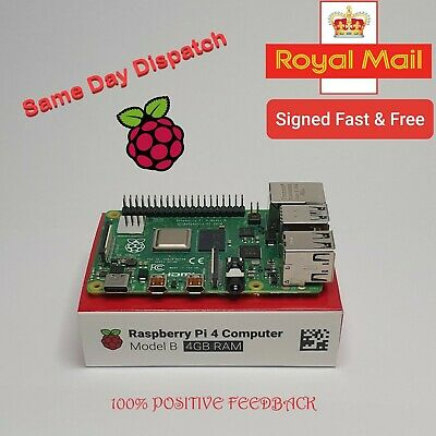 BRAND NEW RASPBERRY PI 4 MODEL B WITH  4GB RAM (2019 Model) 👍