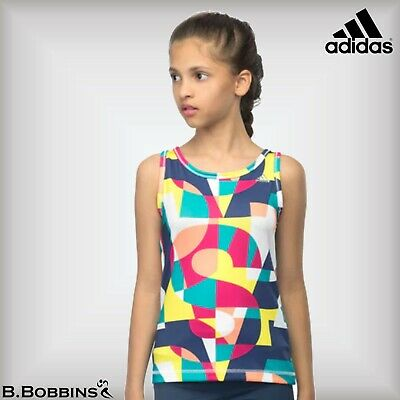 🔥 Adidas Performance CLIMALITE® Age 7-8 Years Training Tank Vest Top Girls