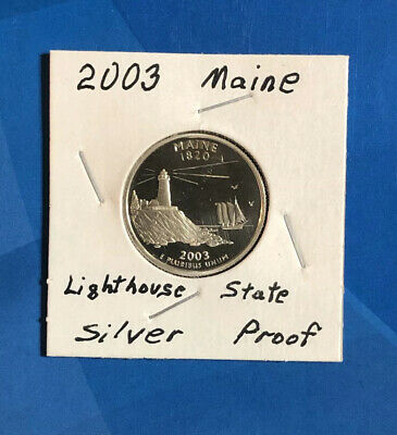 Silver /& Clad 2003 S Maine Proof Deep Cameo State Quarters Combined Shipping