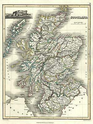 Kingdom of Scotland 1820 Thomson Hewitt Decorative Map