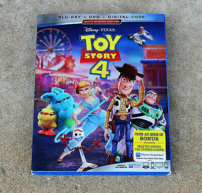 Disney Toy Story 4 Blu-Ray + Dvd + Digital Code With Slipcover