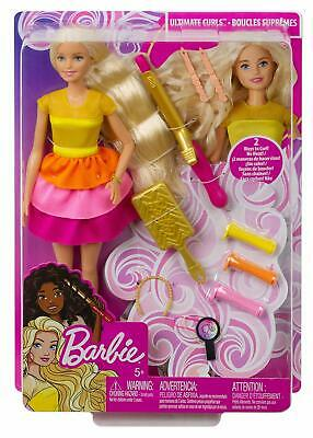 Barbie Ultimate Curls Blond Doll /Hairstyling Playset with No-Heat Curling Tools