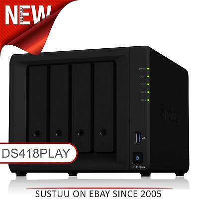 Synology DiskStation DS418play 4 Bay Desktop NAS Enclosure Ethernet LAN Server