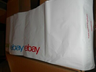 "eBay-Branded Polymailer Red Green & Blue 10"" x 12.5"" (No padding) Packed 100 per"
