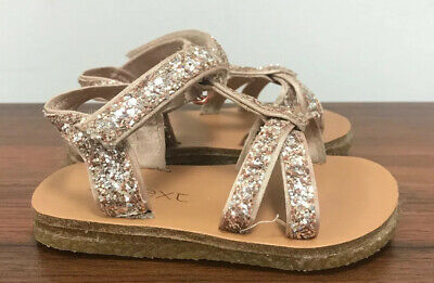 Baby Girl NEXT Gold Sparkly Sandals Size Infant 4