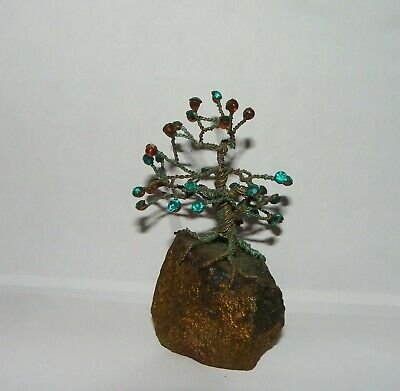 Jeweled Crystal Cluster Wire Tree Of Life Art
