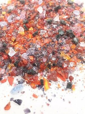 Valentines Day Red Pink Purple Plum Frit Mix Coarse Fine Medium 25g Fused Glass