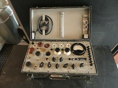 Tv-7/U Military Tube Tester Built By Supreme Shown Testing Tubes