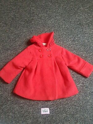 Baby Girls Red Coat From Next Age 9-12 Months