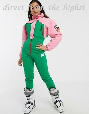 Asos 80s Colour Block Ski Suit  Sizes UK 4_6_8_10_12