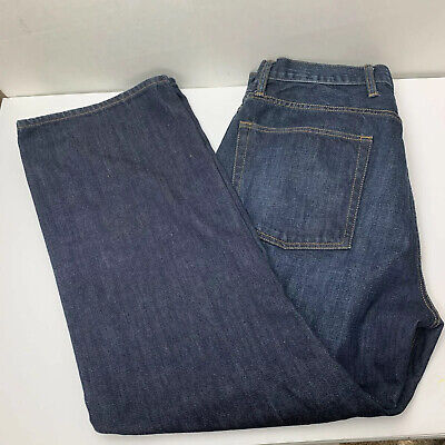Gap Denim Mens Jeans Size 36 / 32 Relaxed Fit Dark Wash