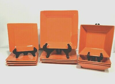12 Pc - NOVA ORANGE by 10 Strawberry Street Dishes Soup/Cereal, Dinner & Salad