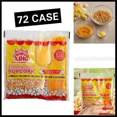 72 CASE All-In-One Popcorn Kit for 8 oz. to 10 oz. Poppers