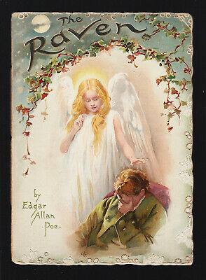 THE RAVEN (1895) Edgar Allan Poe HAROLD COPPING ILLUSTRATED Raphael & Tuck 1ST