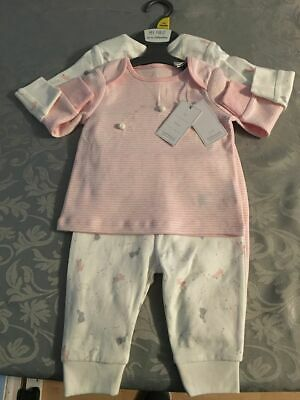 Beautiful Set Of 2 Mothercare Bunny's Pyjamas Girls With Tags Brand New.