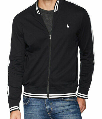 NWT POLO RALPH LAUREN Men's  Cotton Truck Jacket Full Zip  Black/White Size L