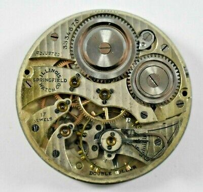 1915 Illinois Grade 405 12s 17 Jewels Pocket Watch Movement For Parts lot.x