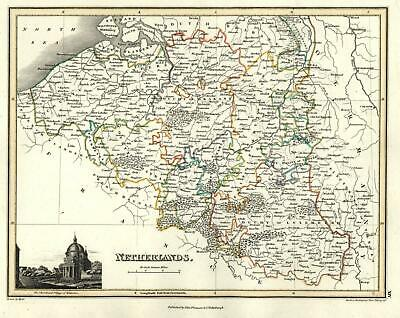 Netherlands Low Countries Belgium Luxemberg 1820 Thomson Hewitt Decorative map