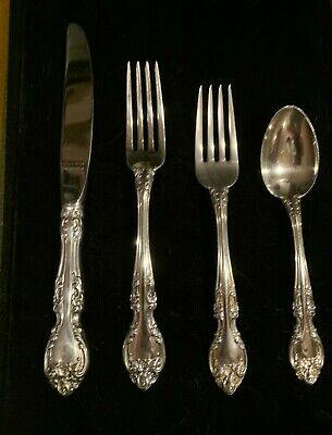 MELROSE BY GORHAM  STERLING FLATWARE SET  4 settings 4 pieces per 16 total