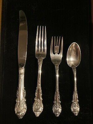 WALLACE SIR CHRISTOPHER STERLING FLATWARE SET  4 settings 4 pieces per 16 total