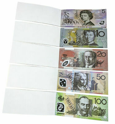 Souvenir Note Pad Kids Toy Fake Pretend Play Australian Dollar $ Money 50 Sheets