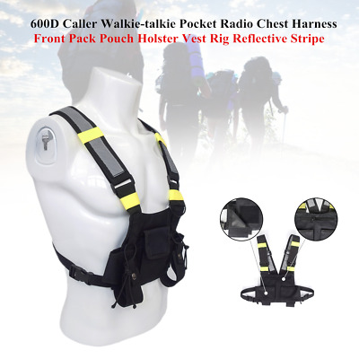 Caller Walkie-talkie Pocket Radio Chest Harness Front Pack Holster Vest Rig Tool