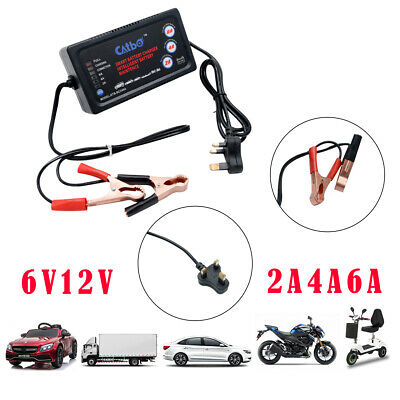 6Amp 6V/12V Car Battery Charger Van Vehicle Charging Mains Electrical Heavy Duty